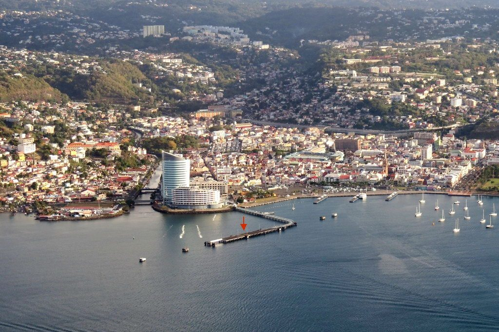 Бухта Фор-де-Франс признана одной из самых красивых в мире